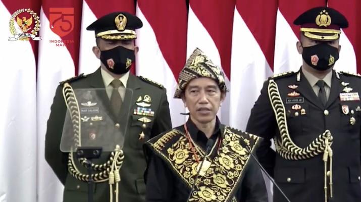 Pidato Presiden RI Jokowi di Sidang Tahunan MPR RI  Dan Sidang Bersama DPR RI Dan DPD RI (Tangkapan Layar Youtube DPR RI)