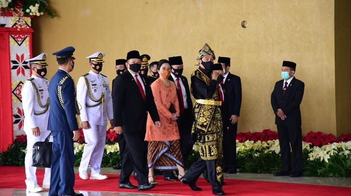 Presiden RI Jokowi menghadiri Sidang Tahunan MPR RI  Dan Sidang Bersama DPR RI Dan DPD RI (DPR RI)