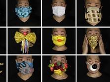 Keren! Pria Hong Kong Bikin Masker Berdesain CCTV Hingga Buah