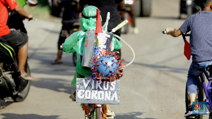 Pawai sepeda hias 17-an (CNBC Indonesia/Muhammad Sabki)