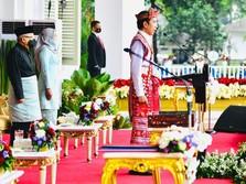 Gaya Jokowi Berbaju Adat NTT di Upacara HUT RI ke 75