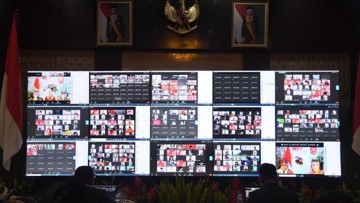 Upacara Kemerdekaan HUT RI Secara Daring (Lukas - Biro Pers Sekretariat Presiden)