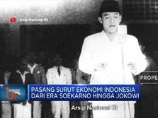 Ini Roller Coaster Ekonomi RI dari Era Soekarno hingga Jokowi