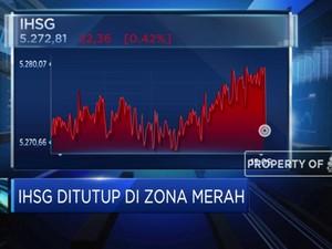BI7DRR Tetap 4%, IHSG Ditutup di Zona Merah