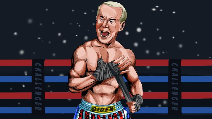 INFOGRAFIS, Joe Biden Resmi Jadi Lawan Donald Trump