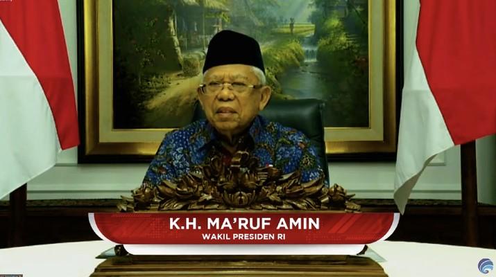 K.H MA'RUF AMIN, Wakil Presiden RI. (Dok: Tangkapan layar Kemkominfo TV)