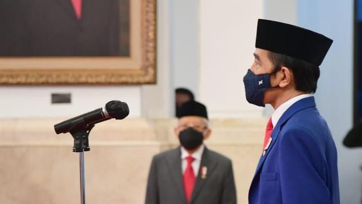 Pelantikan Kompolnas dan Konsil Kedokteran Indonesia, Istana Negara, 19 Agustus 2020. (Dok: Tangkapan layar Setpres)