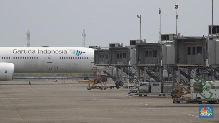 Maskapai Penerbangan Garuda Indonesia. (CNBC Indonesia/Tri Susilo)