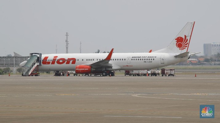 Maskapai Penerbangan Lion Air. (CNBC Indonesia/Tri Susilo)
