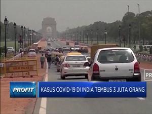 Kasus Covid-19 di India Tembus 3 Juta Orang