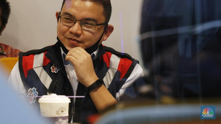 Taufik Hendra Kusuma, Direktur Keuangan PT Waskita Karya Tbk (WSKT). (CNBC Indonesia/Tri Susilo)