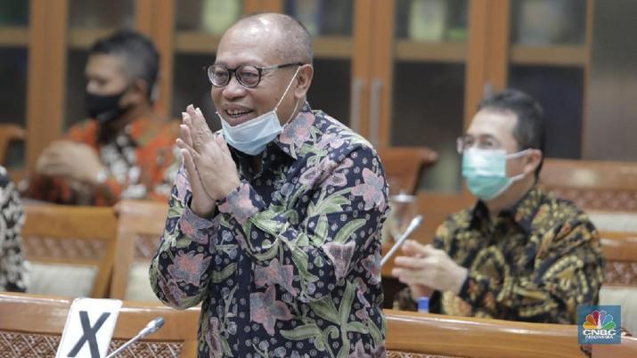 Direktur Utama BPJS Ketenagakerjaan, Agus Susanto. (CNBC Indonesia/Muhammad Sabki)
