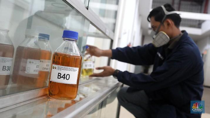 Laboratorium pengembangan B40 milik ESDM. (CNBC Indonesia/Andrean Kristianto)