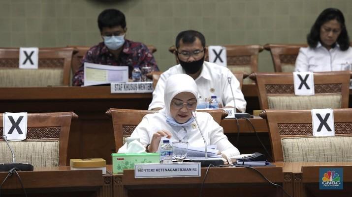 Menteri Ketenagakerjaan RI, Ida Fauziyah. (CNBC Indonesia/Muhammad Sabki)