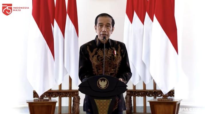 Pidato Jokowi dalam acara aksi nasional pencegahan korupsi di Istana Kepresidenan Bogor, (26/8/2020). (Dok: tangkapan layar youtube setpres RI)