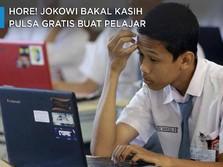 Hore! Jokowi Bakal Kasih Pulsa Gratis Buat Pelajar Lho