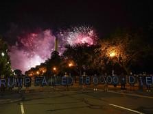 Penampakan Demo Warga AS 'Kepung' Gedung Putih