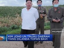 Kim Jong Un Tinjau Daerah Yang Dilanda Topan Bavi