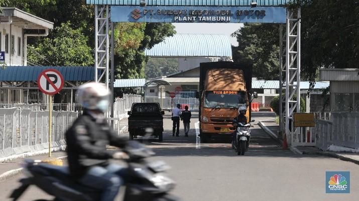 Pabrik Suzuki di Tambun, Bekasi. (CNBC Indoensia/Muhammad Sabki)