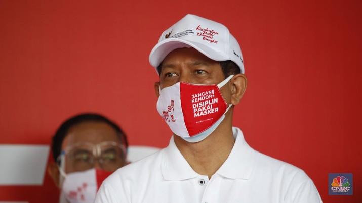 Doni Monardo, Kepala Gugus Tugas Covid-19. (CNBC Indonesia/Tri Susilo)