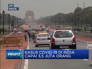 Kasus Covid-19 di India  Capai 3,5 Juta Orang