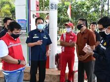 Kepala BPH Migas Inspeksi IT Nozzle SPBU Pertamina di Jatim
