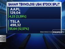 Stock Split, Saham Apple dan Tesla Terbang