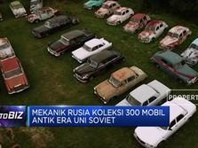 Mekanik Rusia Koleksi 300 Mobil Antik Era Uni Soviet