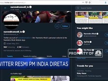 Akun Twitter Resmi Milik PM India Diretas