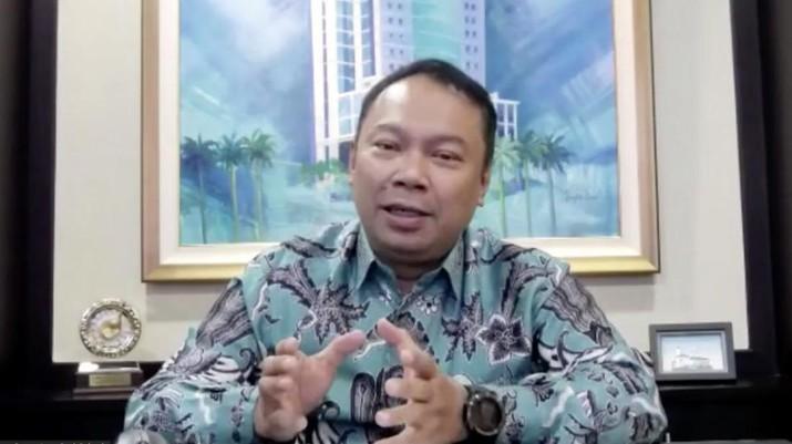 Direktur Utama Bank Bukopin Rivan A Purwantono (Tangkapan Layar Webinar)