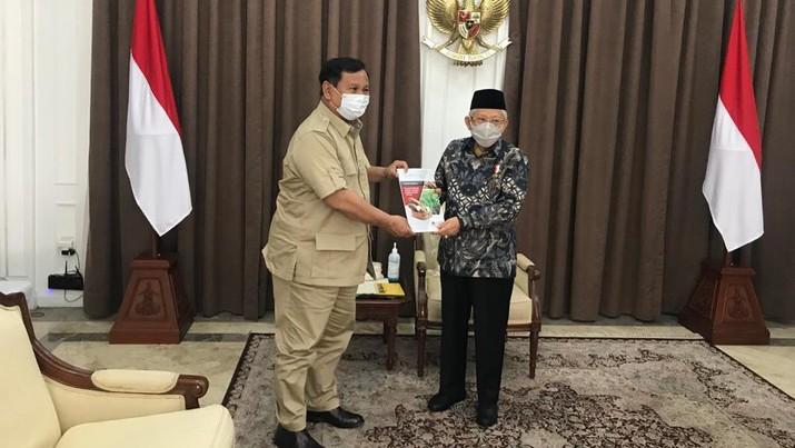 Menhan Prabowo dan Wapres Ma'ruf Amin