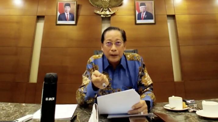 Presiden Direktur BCA Jahja Setiaatmadja (Tangkapan Layar Webinar)