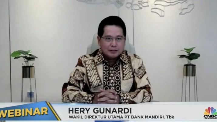 Wakil Direktur Utama Bank Mandiri Hery Gunardi (Tangkapan Layar Webinar)
