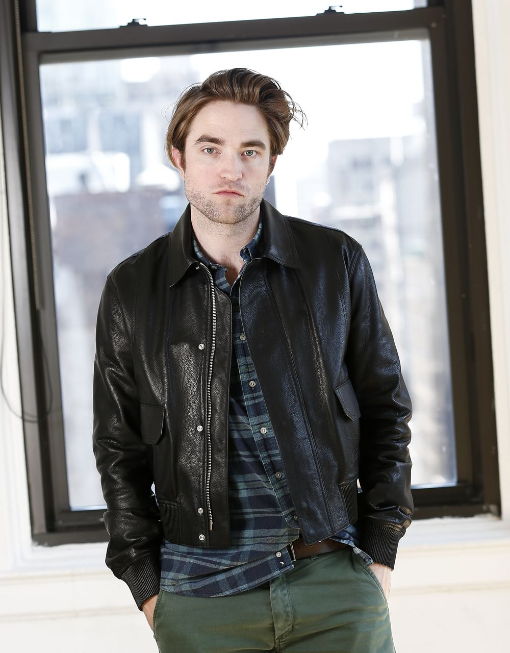 This April 4, 2019 photo shows actor Robert Pattinson posing for a portrait to promote his film,