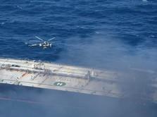 Duarrr! Kapal Tanker Singapura Meledak di Arab Saudi