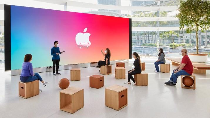 Apple Store Terapung di Marina Bay Sands, Singapura  (Dok. Apple)