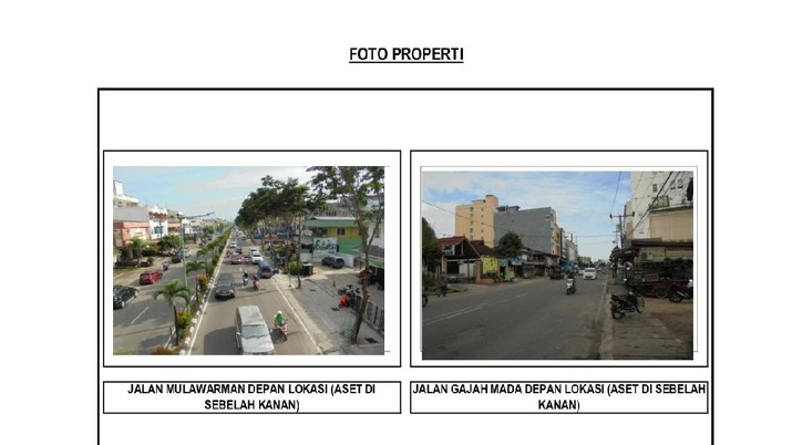 Bangunan yang dijual dalam 1 (satu) Paket : Grand Tarakan Mall dan Hotel, Gusher Plaza Lantai 2&3, 18 Unit Unit Ruko di Tarakan (Dok. lelang.go.id)