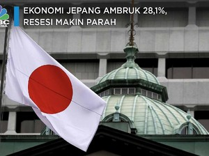 Ekonomi Jepang Ambruk 28,1%, Resesi Makin Parah