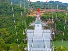 Gokil! China Punya Jembatan Kaca Terpanjang di Dunia