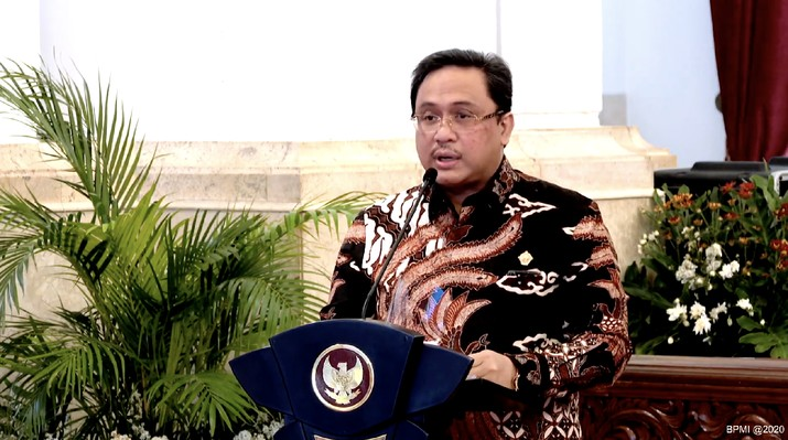 Ketua Badan Pemeriksa Keuangan (BPK) Agung Firman Sampurna (Tangkapan Layar Youtube Sekretariat Presiden)