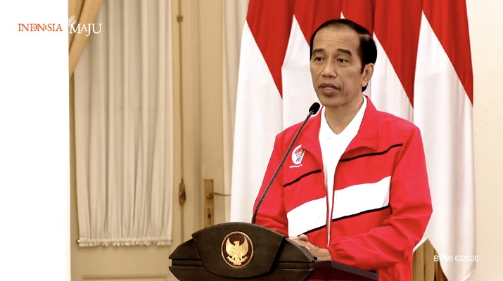 Presiden Joko Widodo dalam Acara Puncak Hari Olahraga Nasional XXXVII Tahun 2020 (Tangkapan Layar Youtube  Sekretariat Presiden)