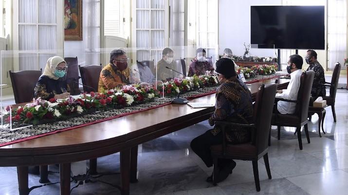 Tim Vaksin Merah Putih di Istana Bogor (BPMI/ Lukas)