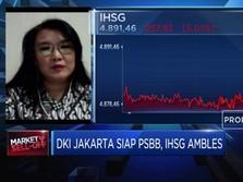 DKI Jakarta Siap PSBB Total, IHSG Ditutup Ambles 5,01%