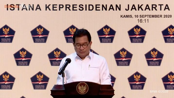 Juru Bicara Satuan Tugas Penanganan Covid-19 Wiku Adisasmito (Tangakapan Layar Youtube Sekretariat Presiden)