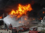 Kebakaran Landa Situs Ledakan Beirut Lebanon