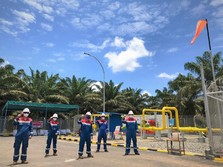 Pertagas Uji Coba Alirkan Gas ke Kuala Tanjung