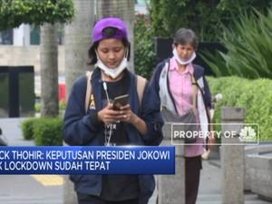 Erick: Keputusan Presiden Jokowi Tak Lockdown Sudah Tepat