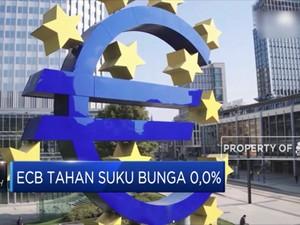ECB Tahan Suku Bunga 0,0%