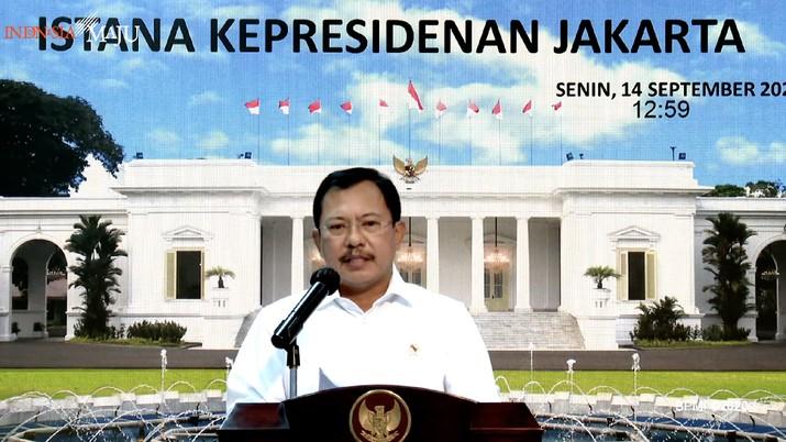 Keterangan pers Menteri Kesehatan, Terawan Agus Putranto. Dok: tangkapan layar youtube Setpres RI