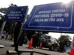 Penampakan Hari Pertama Penerapan PSBB Ketat Jakarta